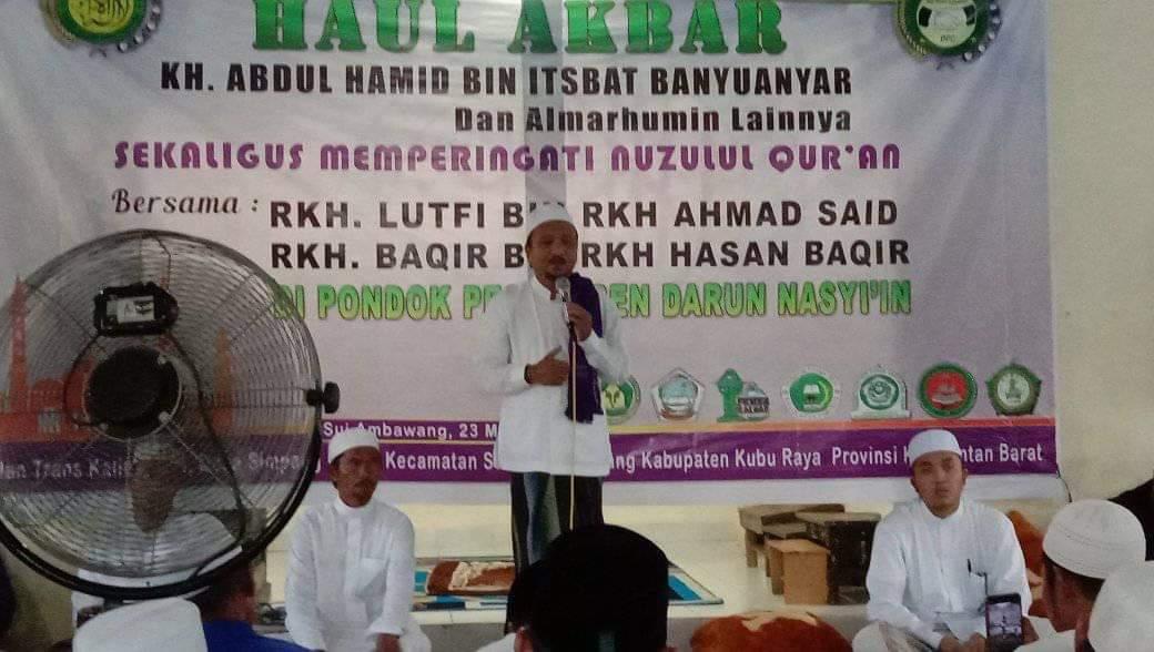 Ponpes Darun Nasyiin Gelar Nuzul Quran sekaligus Haul Akbar KH. Abdul Hamid Banyuanyar