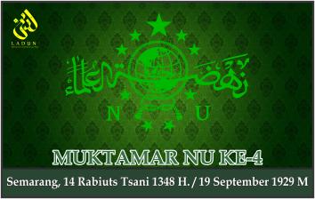 KEPUTUSAN MUKTAMAR NAHDLATUL ULAMA KE-4. Semarang, 19 September 1929 M.
