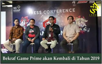 Bekraf Game Prime akan Digelar 13-14 Juli 2019
