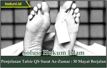 Penjelasan Tafsir Qs Surat Az Zumar 30 Mayat Berjalan
