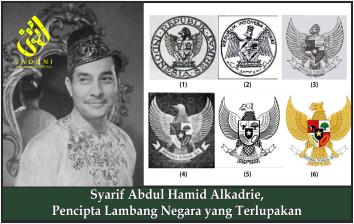 Syarif Abdul Hamid Alkadrie, Pencipta Lambang Negara yang Terlupakan
