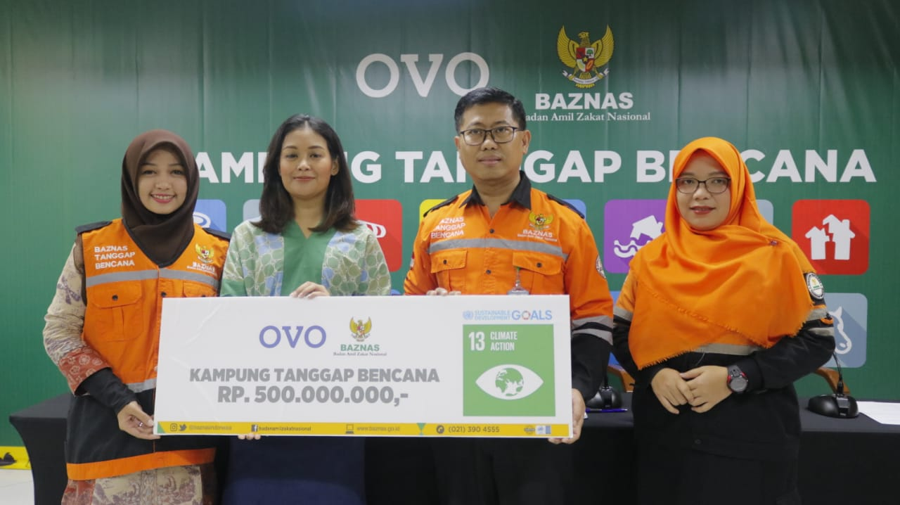 Kembangkan Kampung Tanggap Bencana Banten, BAZNAS Gandeng OVO