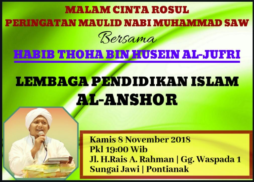 Peringatan Maulid Nabi Saw di Sungai Jawi Bersama Habib Thoha Bin Husain al-Jufri