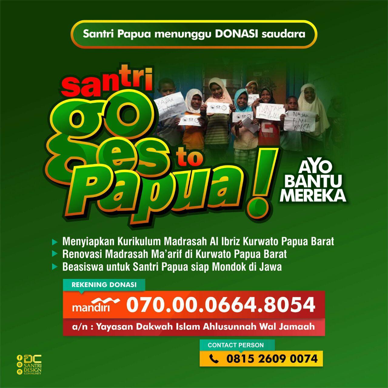 Dibutuhkan Segera: Ustadz NU di Kabupaten Paniai Propinsi Papua
