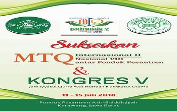Sukseskan MTQ Internasional ke-II , Nasional Antar PonPes serta Kongres ke-V JQH NU