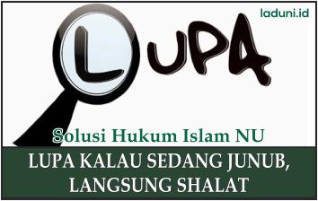 Hukum tentang Orang yang Shalat namun Sedang Junub