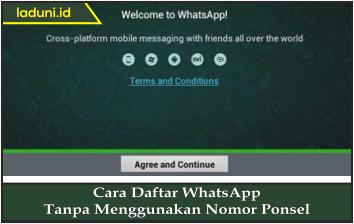 Cara Daftar WhatsApp Tanpa Menggunakan Nomor Ponsel