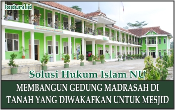 Gedung Masjid Yang Dibangun Menggunakan Tanah Wakaf Masjid