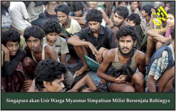 Singapura akan Usir Warga Myanmar Simpatisan Milisi Bersenjata Rohingya