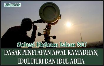 Dasar Penetapan Awal Ramadhan, Idul Fitri, dan Idul Adha