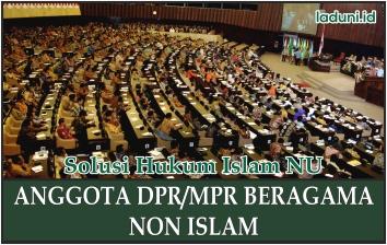 Anggota DPR/MPR Beragama Non Islam