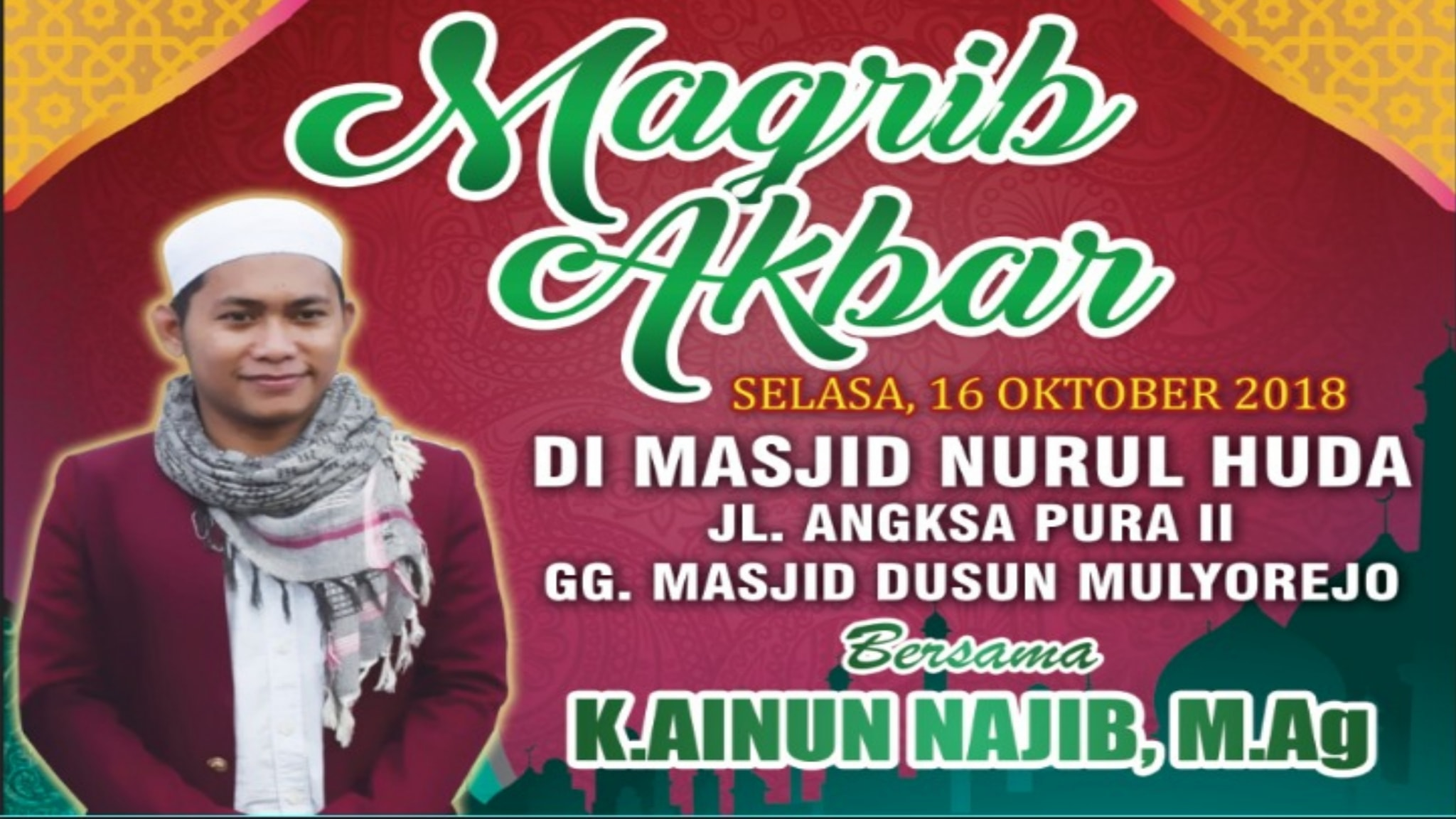 Tabligh Akbar dan Kajian Kitab Safinatun Najah bersama K. Ainun Najib, M.Ag