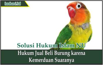 Hukum Jual Beli Burung karena Kemerduan Suaranya