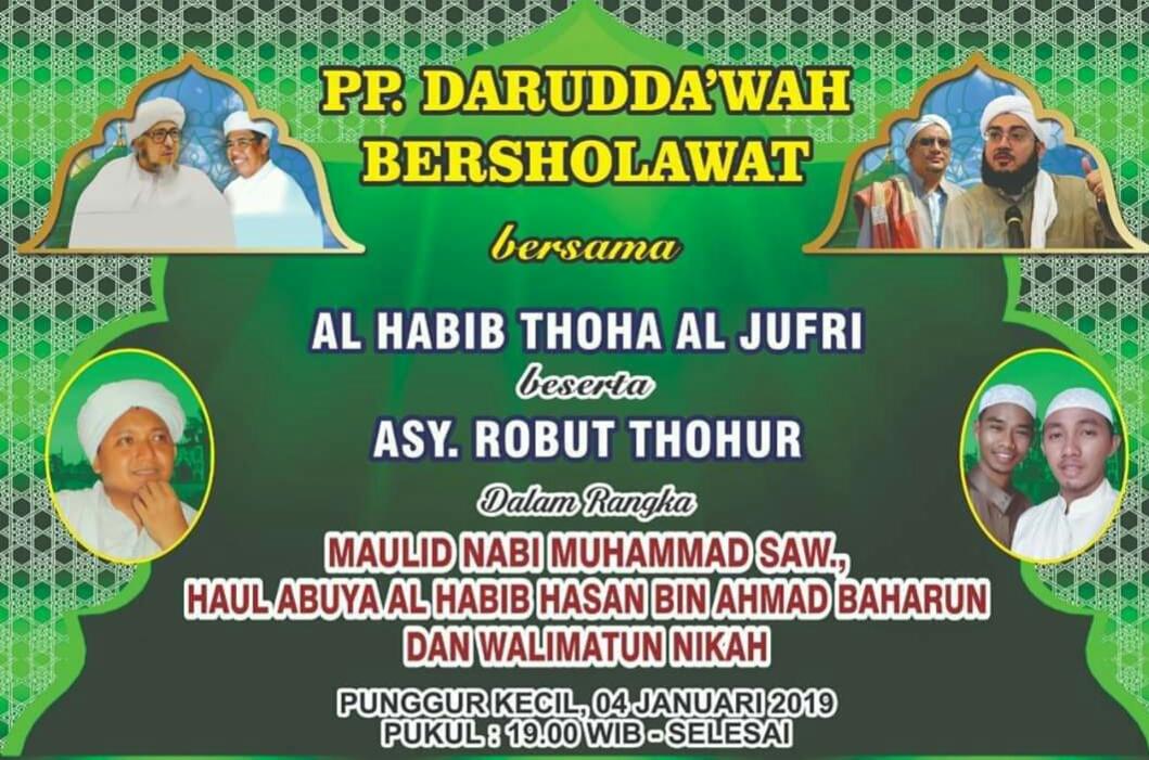 Darud Da'wah Bersholawat bersama Habib Thoha Bin Husain al Jufri