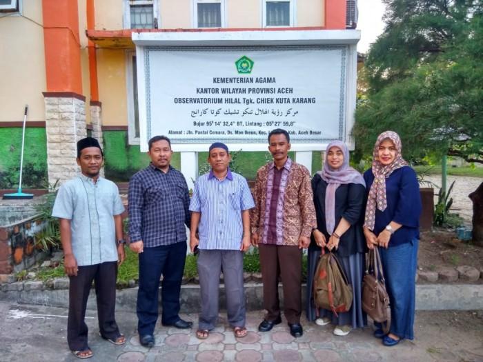 Subdit Hisab Rukyat dan Syariah Kemenag RI Lakukan Rukyatul Hilal di Lhoknga