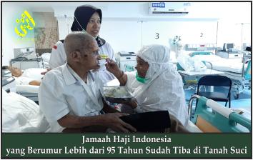 Jamaah Haji Indonesia yang Berumur Lebih dari 95 Tahun Sudah Tiba di Tanah Suci