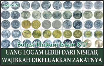 Hukum Zakat untuk Uang Logam Lebih dari Nishab