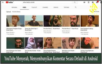 YouTube Menyerah, Menyembunyikan Komentar Secara Default di Android