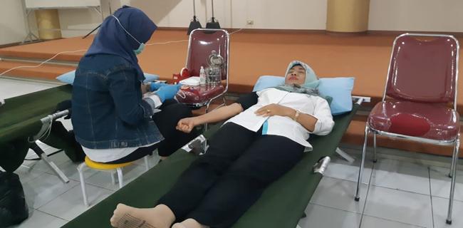 Semarak Bulan K3 Nasional, PLN Pontianak Gelar AKsi Donor Darah