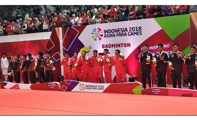 Raih 23 Emas, Indonesia Peringkat Keenam Klasemen Asian Para Games 2018