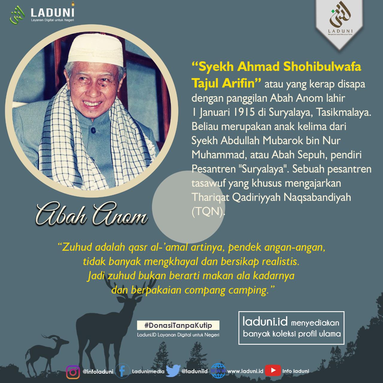 Biografi Syekh Ahmad Shohibulwafa Tajul Arifin (Abah Anom)