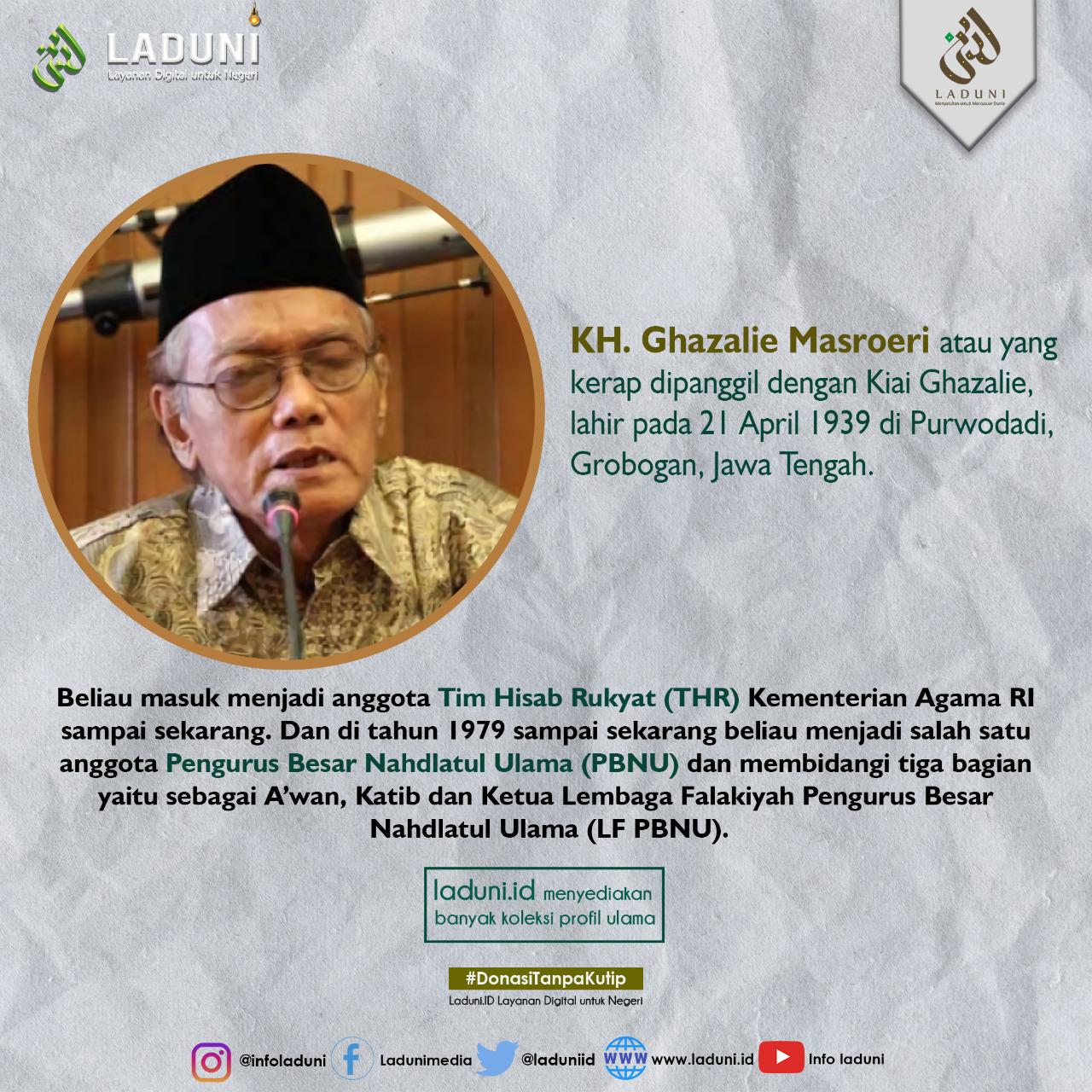 Biografi KH. Ghozalie Masroeri
