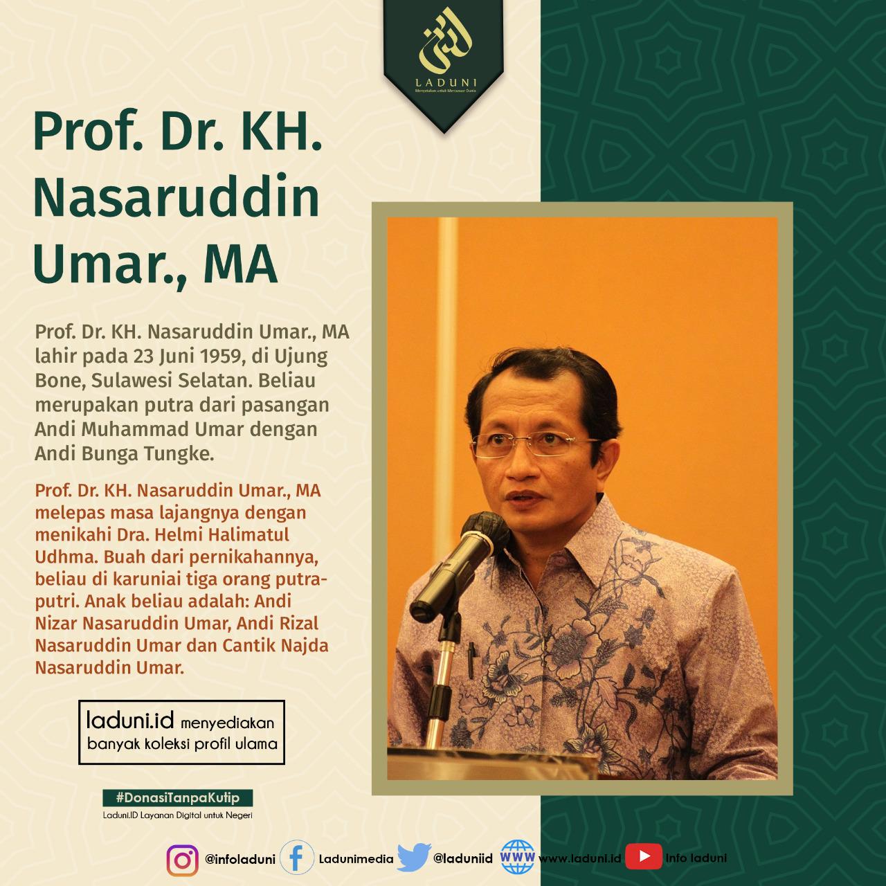 Biografi Prof. Dr. KH. Nasaruddin Umar., MA