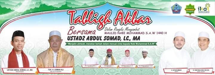 Ustaz Abdul Somad Dipastikan Hadir dalam Tabligh Akbar di Pidie Jaya 10 November