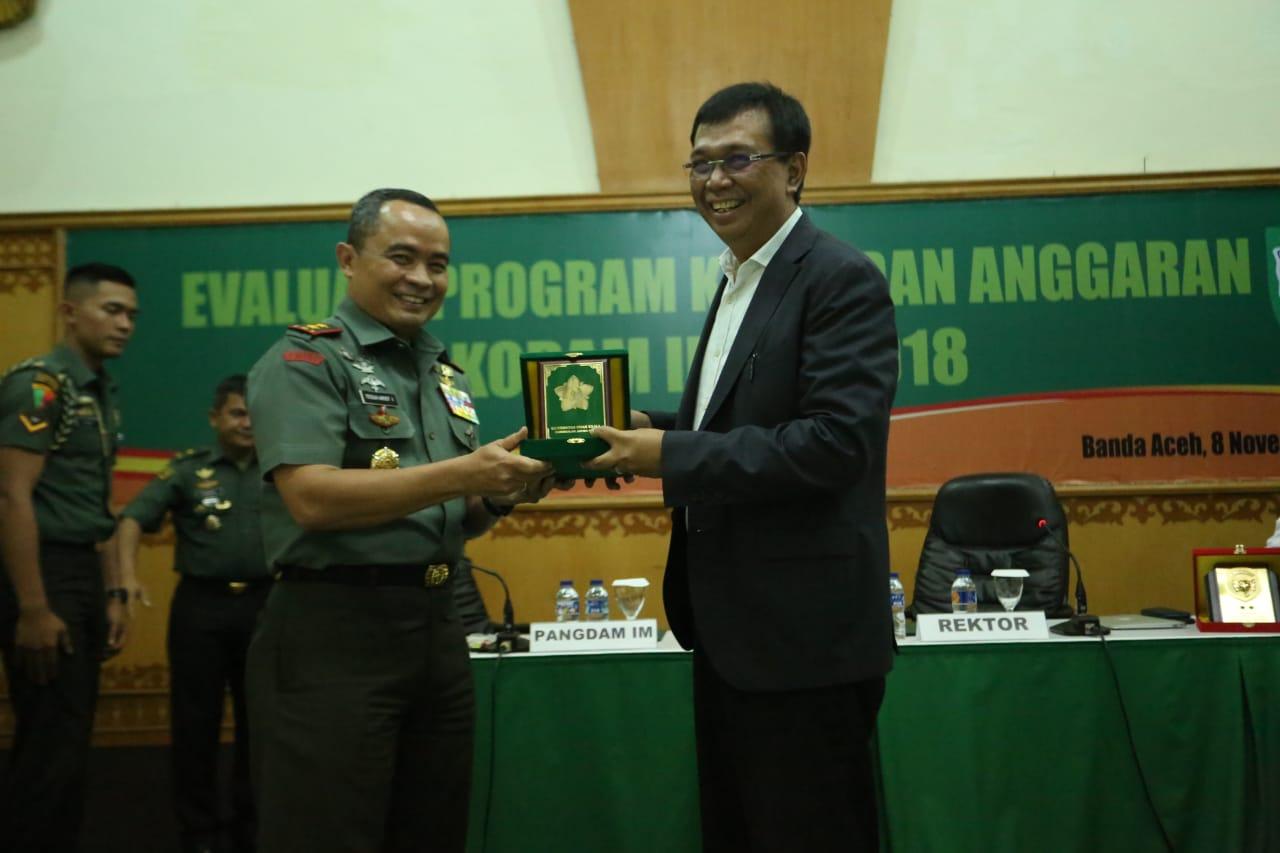 Kodam IM dengan Unsyiah Kerjasama Program S-2 Magister Manajemen