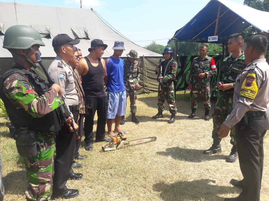 Yonif Mekanis Raider 411 Kostrad Amankan Pelaku llegal Logging