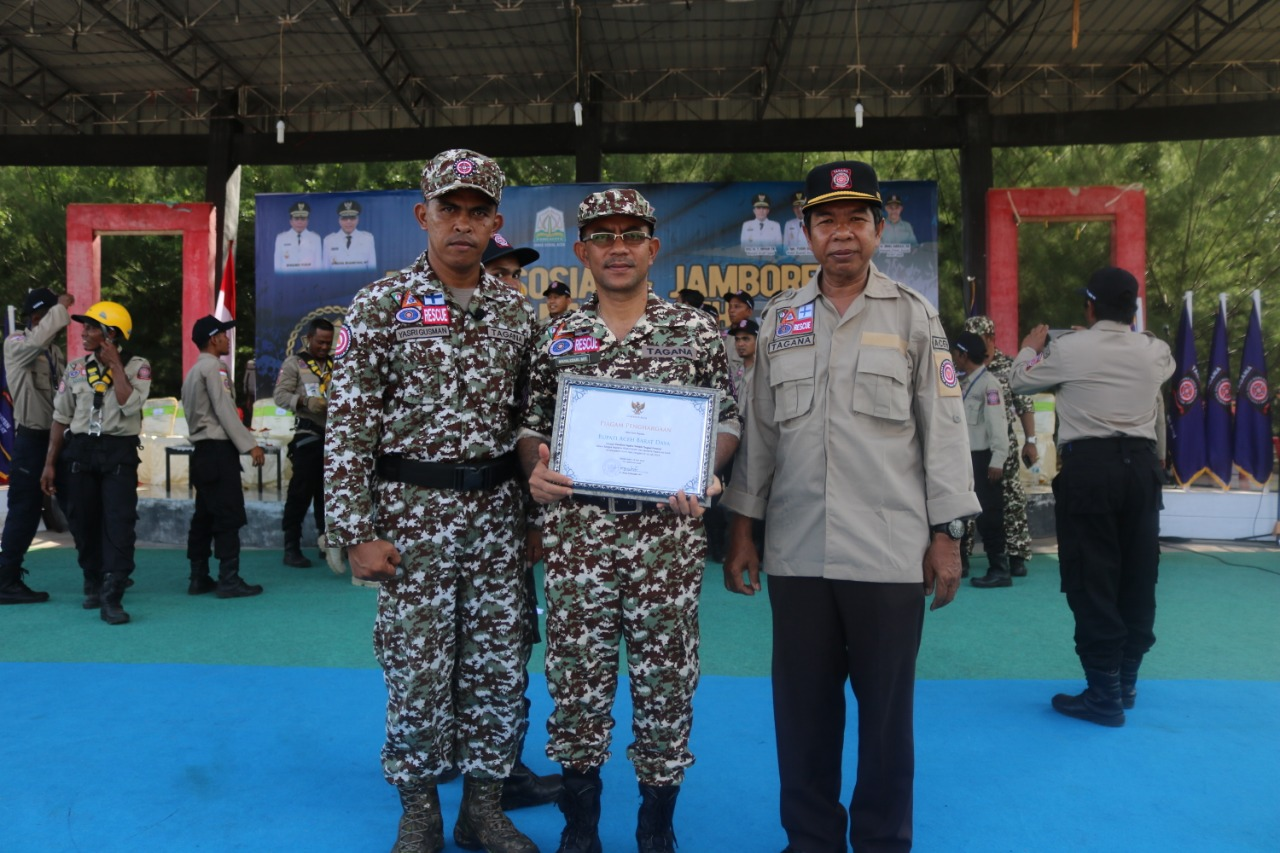 Bupati Abdya dan Aceh Jaya Terpilih Sebagai Pembina Tagana Terbaik