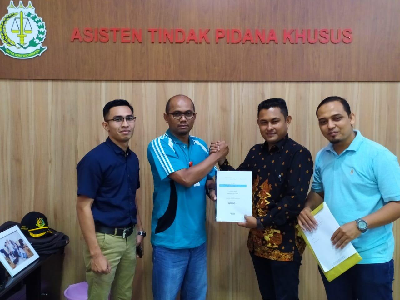 GeRAK Laporkan Dugaan Korupsi Aset Pendopo Wali Kota Subulussalam ke Kejati Aceh