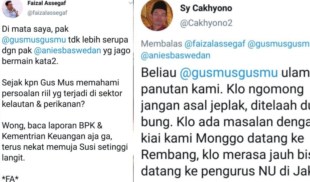 Soal Cuitan Faizal Assegaf tentang Gus Mus, Pengurus NU Jaktim Tanya Dasarnya Apa?