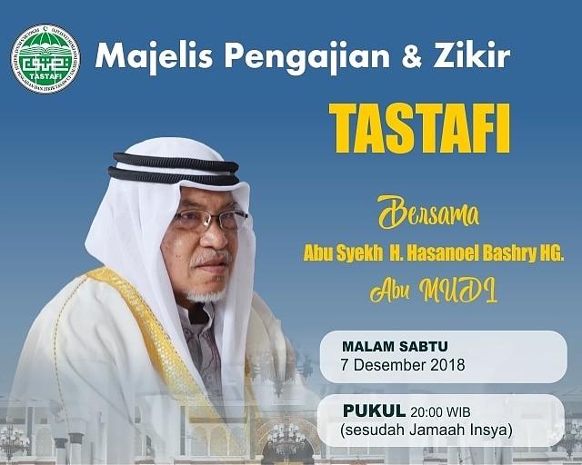 Al-Mursyid Abu MUDI Isi Pengajian Akhir Tahun MPZT Aceh di Masjid Raya Baiturrahman
