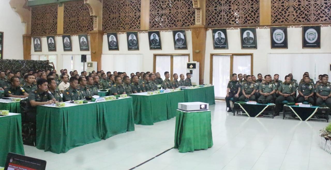 Pangdam IM Buka Rapat Evaluasi Bidang Operasi