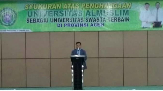 Umuslim Aceh Gelar Syukuran Pasca Raih Penghargaan PTS Swasta Terbaik