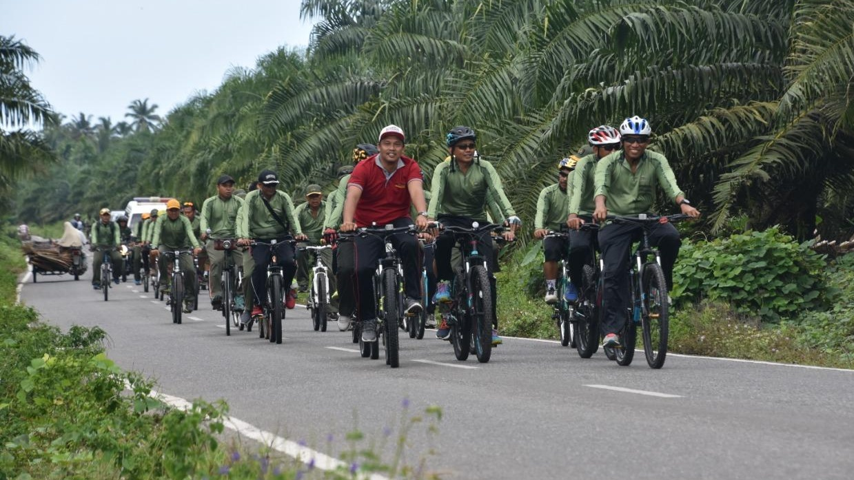 Melalui Fun Bike, Danrem 012/TU Jalin Silaturrahmi