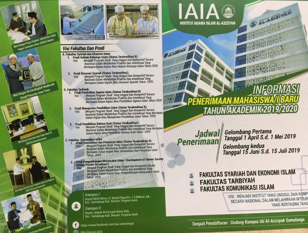 IAI Al-Aziziyah Samalanga Membuka Pendaftaran Mahasiswa Baru Awal April Ini