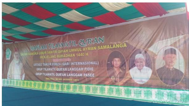 Qari Internasional Isi Haflah Al Quran Perpisahan Santri Ummul Ayman Samalanga