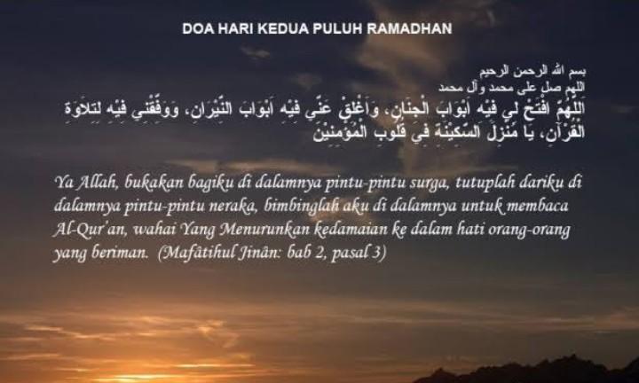 Doa Puasa Ramadhan Hari ke-20 dan Hikmahnya