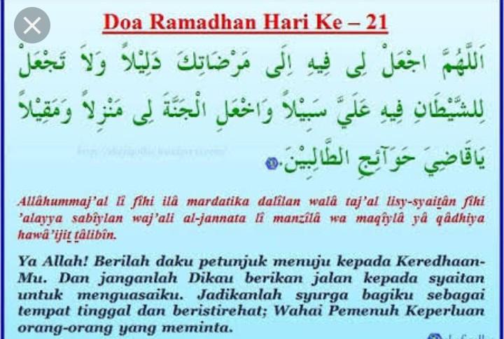 Doa Hari ke-21 Puasa Ramadhan dan Hikmahnya