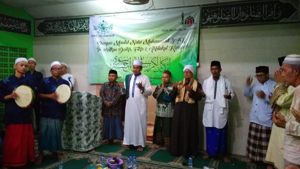 Perkuat Paham Aswaja, MWC NU Makasar Gelar Lailatul Ijtima dan Maulid Nabi