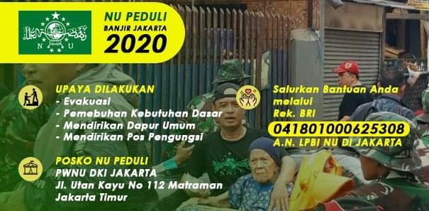 Tim NU Peduli Buka Posko Banjir di Enam Titik, Posko Utama di PWNU DKI Jakarta