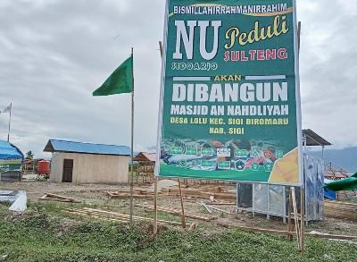 LAZISNU Sidoarjo Bangun Masjid An Nahdliyah di Sulawesi Tengah