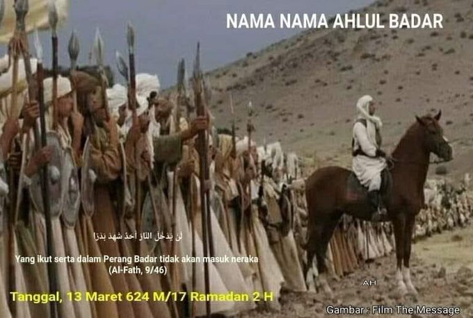 Perang Badar 17 Ramadhan. Inilah Nama-Nama Ahlul Badar