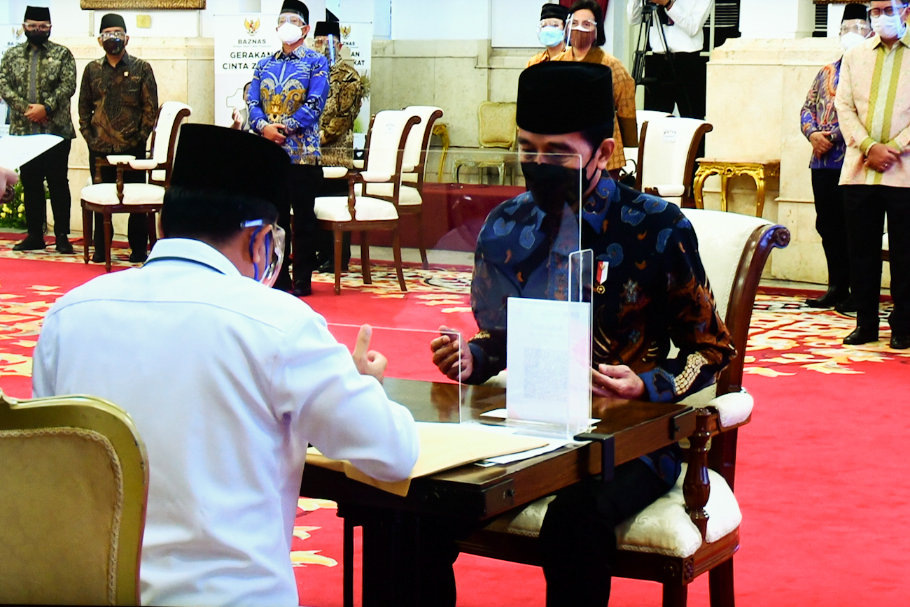 Usai Berzakat, Presiden Jokowi Luncurkan Gerakan Cinta Zakat