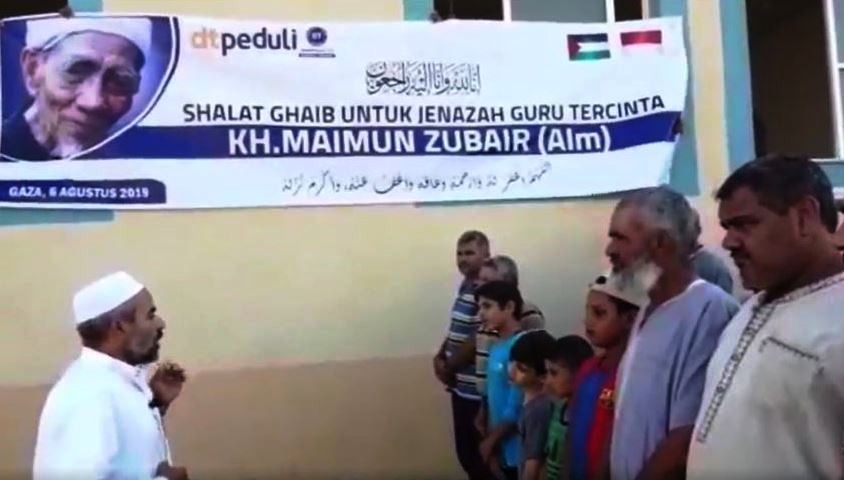 Cinta Indonesia, Muslim Palestina Turut Shalat Ghaib untuk Mbah Maimun