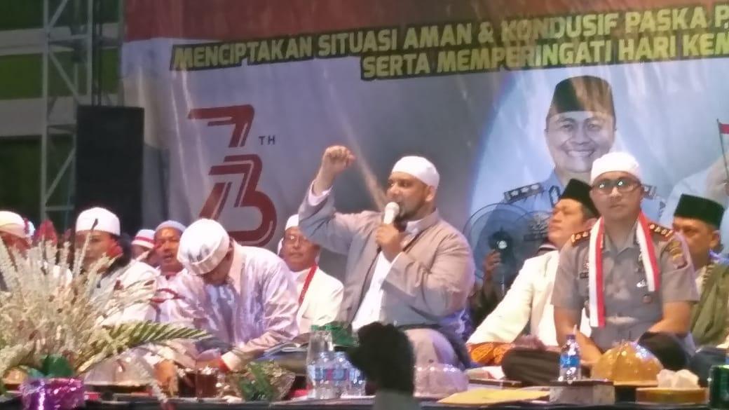 Jaga Kondusifitas, Polres dan GP Ansor Paser Kalimantan Timur Gelar Shalawat Kebangsaan