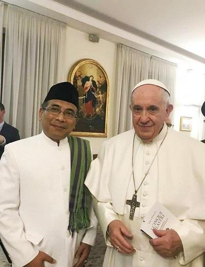Temui Paus Fransiskus, Gus Yahya Ajak Tokoh Agama Dunia untuk Selesaikan Konflik