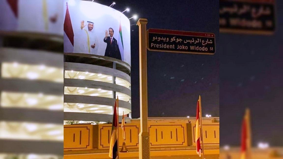 Di Abu Dhabi, Pemerintah UEA Resmikan Jalan dengan Nama Presiden Joko Widodo